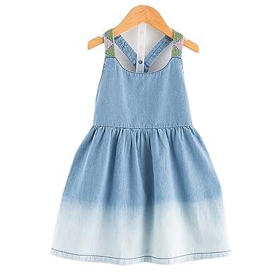 9b7ddc54fe35 Amazon.com  Annie Girls Dress 2018 Casual Summer Style Bull-puncher ...