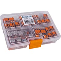WAGO 221 LEVER-NUTS 80pc Compact Wire Splicing Connector Assortment with Case   Includes (40x) 221-412, (25x) 221-413…
