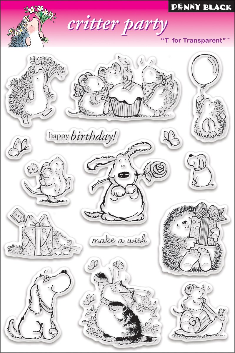 Penny Black PB30013 Clear Stamp Set, Critter Party