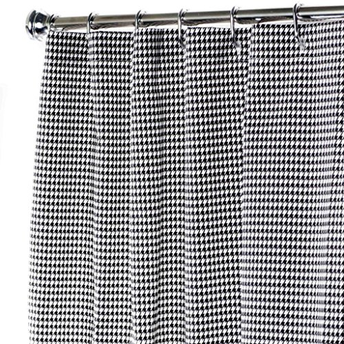 Extra Long Shower Curtain Bathroom Curtains Black and White Shower Curtain Unique Houndstooth 84