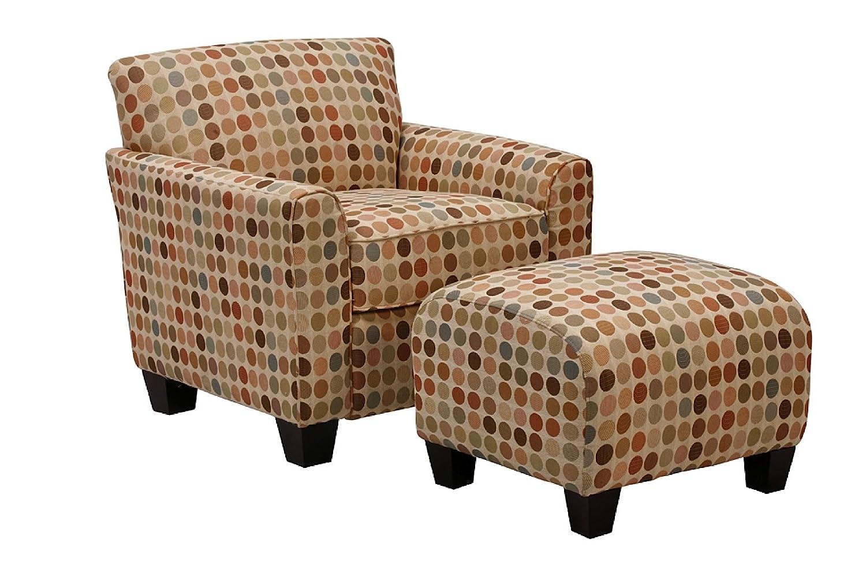 Amazon.com: Handy Living Laflin Chair And Ottoman, Crimson: Kitchen U0026 Dining