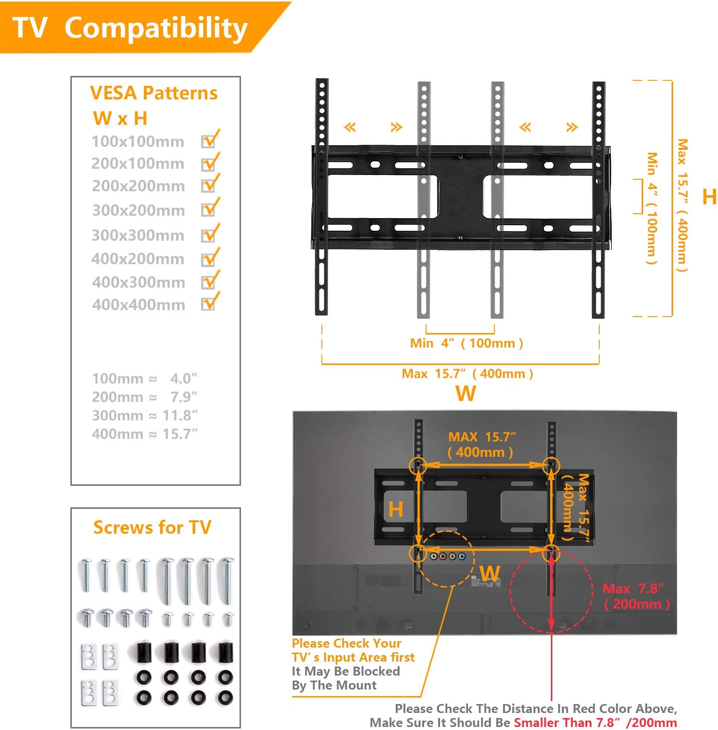 5Rcom Universal Swivel Tabletop TV Stand Base with Mount for 27 32 37 40 42 46 50 55 inch LCD LED Plasma Flat Screens, Height Adjustable TV Base Replacement,Tempered Glass Base,Holds up to 88lbs