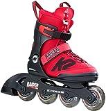 K2 RAIDER PRO rot Jungen Mädchen Inline Skates größenverstellbare Inliner Rollerskates für Kinder
