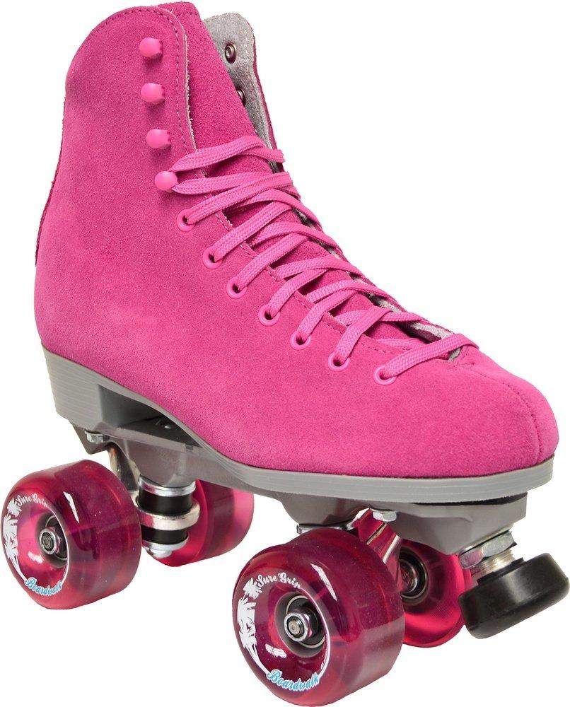 Sure-Grip Boardwalk Outdoor Roller Skate Package -pink sz Mens 7 / Ladies 8