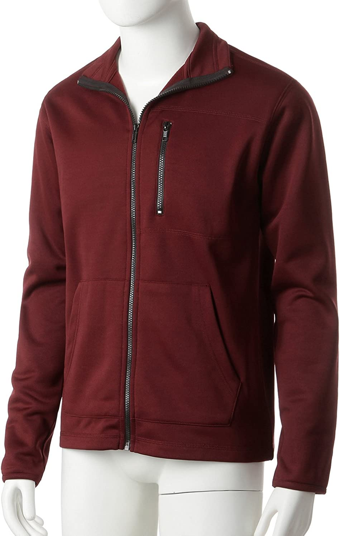 Regna X Mens Lightweight Performance Fleece Hooded//Stand-up Neck Jacket