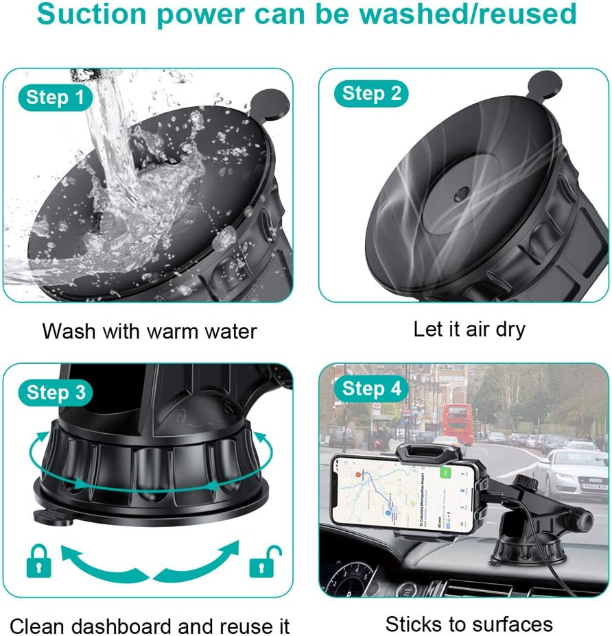 CHOETECH Rotation Lock Suction Cup for Car Phone Mount