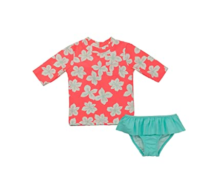 876010f683 Amazon.com: Carter's Baby Girls' 2-Piece Hibiscus Rashguard Set ...