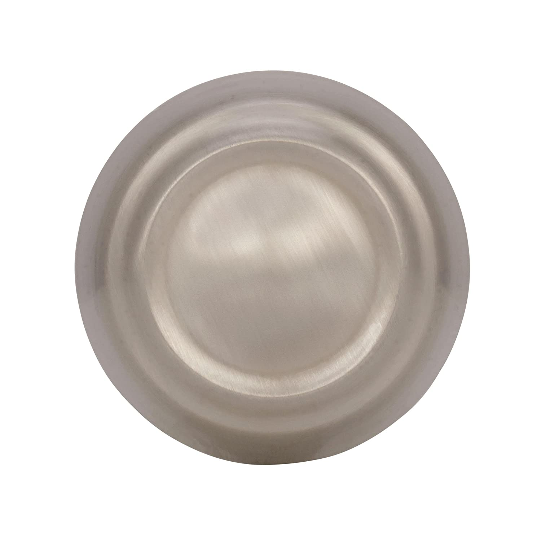 30 mm Amerock BP53700G10 Kane Knob 1-3//16 in Satin Nickel Diameter