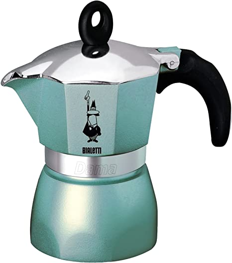 Bialetti - 0004302 Dama Glamour - Cafetera, Color Celeste: Amazon ...