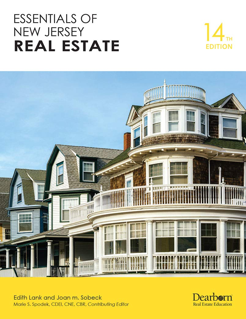 Essentials Of New Jersey Real Estate 14th Edition Edith Lank Joan M Sobeck Marie S Spodeck Cdei Cne Cbr 9781475499285 Amazon Com Books