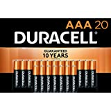 Duracell - CopperTop AAA Alkaline Batteries - long lasting, all-purpose Double A battery for household and business - 20…
