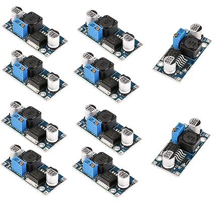 MakerHawk 10pcs LM2596 DC-DC Buck Converter High Efficiency Step Down  Voltage Regulator 3 2-46V to 1 25-35V 3A Adjustable Power Supply Step Down