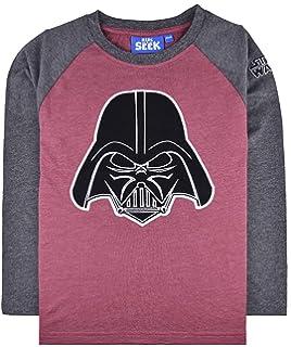Ex-Store Boys Darth Vader Long Sleeve Top Character T Shirt Grey
