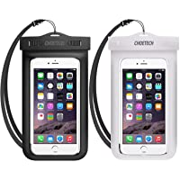 Universal Waterproof Case, CHOETECH 2Pack Clear Transparent Cellphone Waterproof Pouch with Neck Strap Compatible with Xiaomi Redmi 6A/7A/Note 6 Pro, Samsung Galaxy M20/M10/S9/S8/S7, iPhone XS/X/8 and All Devices Up to 6 Inches