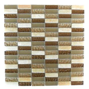 Abolos Mix Glas Mosaik Fliesen Küche Bad Wand Backsplash 5 Blatt  Amzqrtzdaf1412 5, Braun