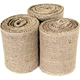 Craft Burlap Ribbon No Fray Edges 4 Inches by 10 Yards 3 Pack Wreath Ribbon