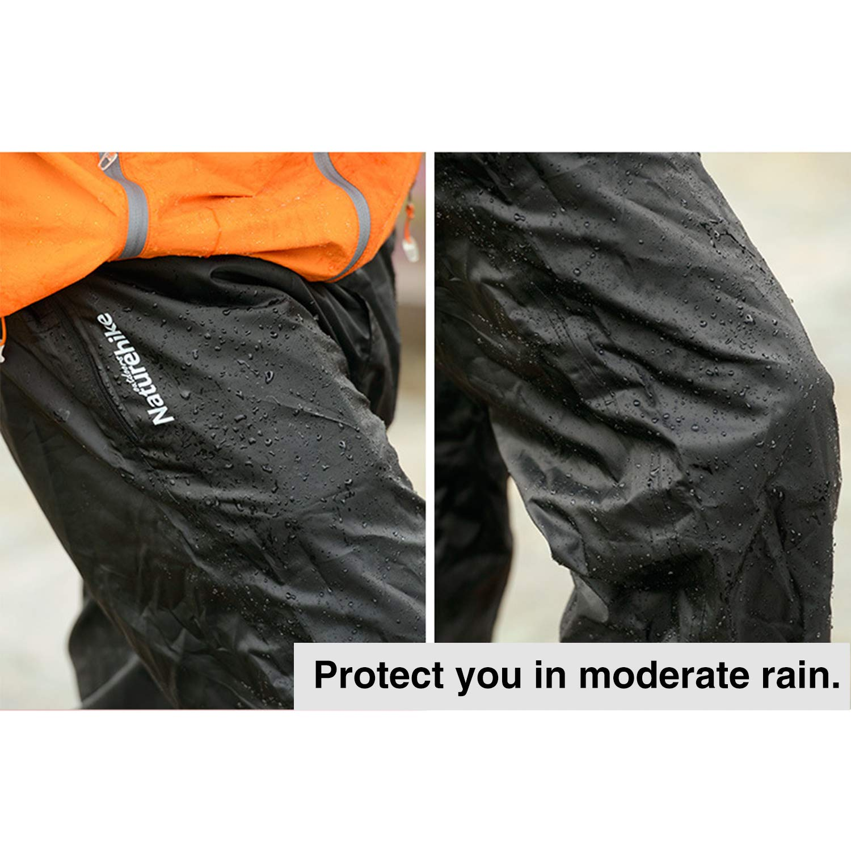 Classic Waterproof Work Rain Pants Cycling Hiking Over Trousers Men Women Black