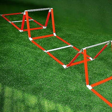 Xin Juego de pies de Escalera Escalera de Agilidad, Alta Velocidad Intensidad Escalera Mejor fútbol Taladros Equipo de la Agilidad de la Agilidad de formación 5M (Color : B): Amazon.es: Deportes y