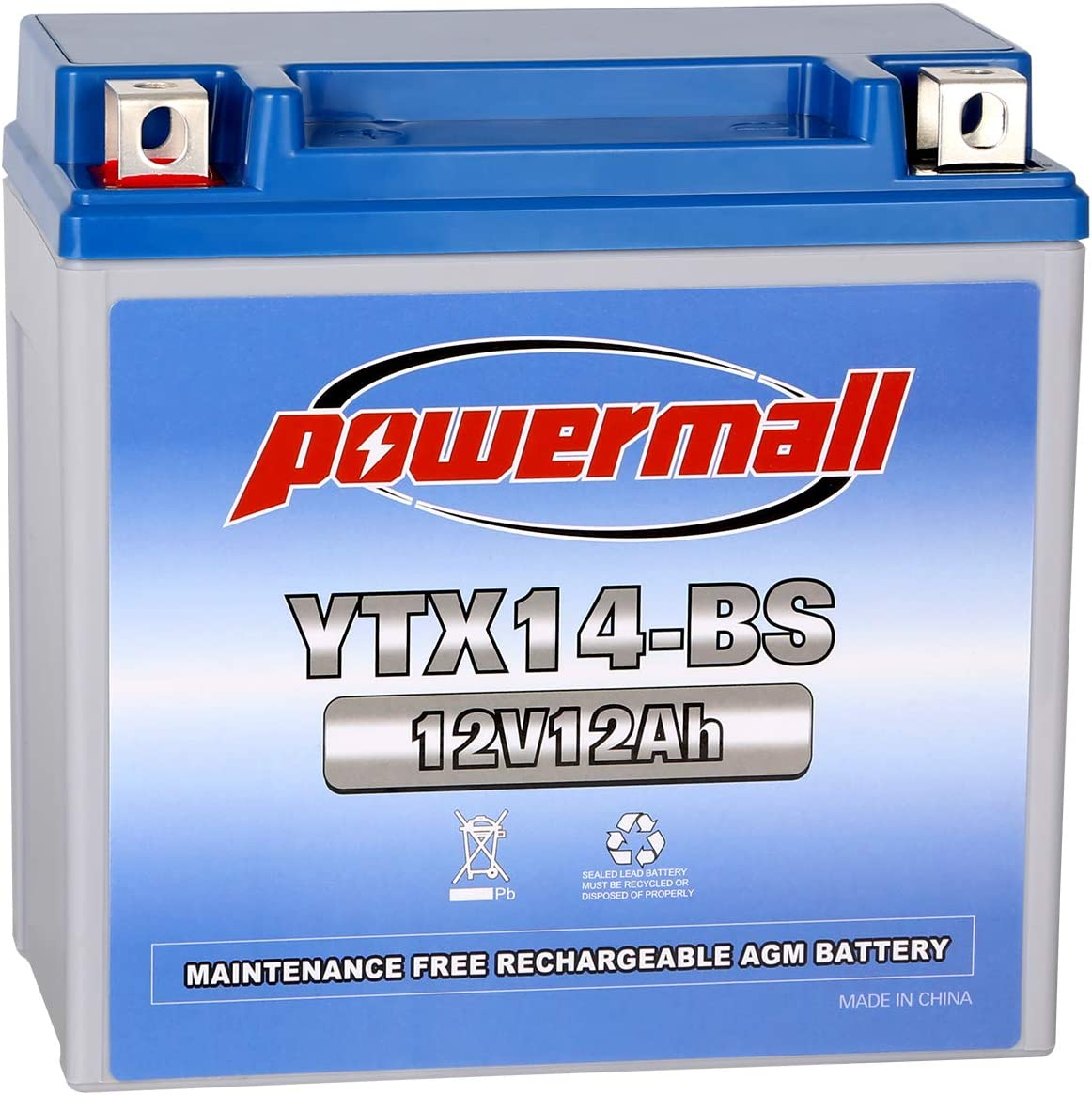 Amazon.com: Powermall YTX14-BS - Batería de repuesto para ...