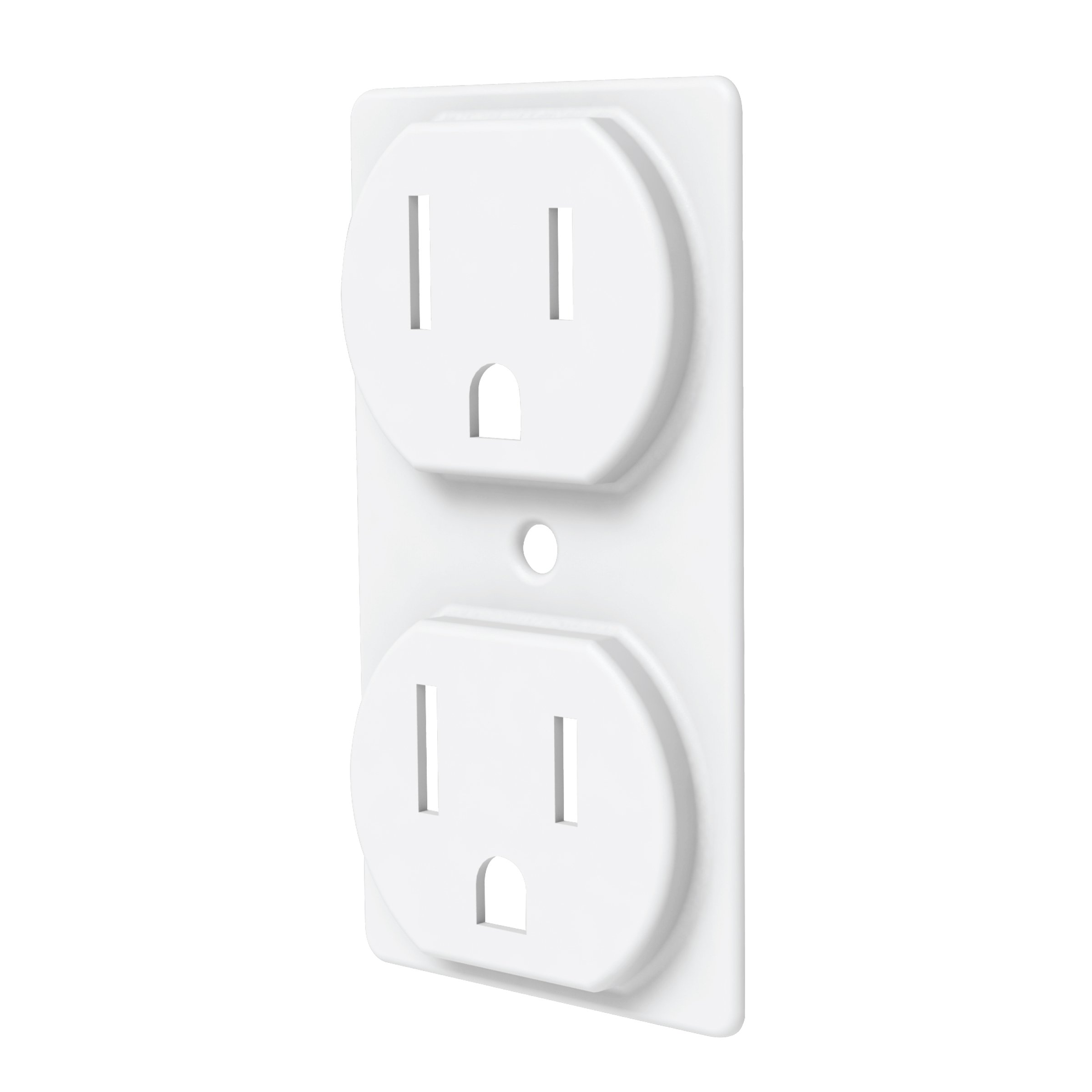 Duplex Outlet Cover (5, White)