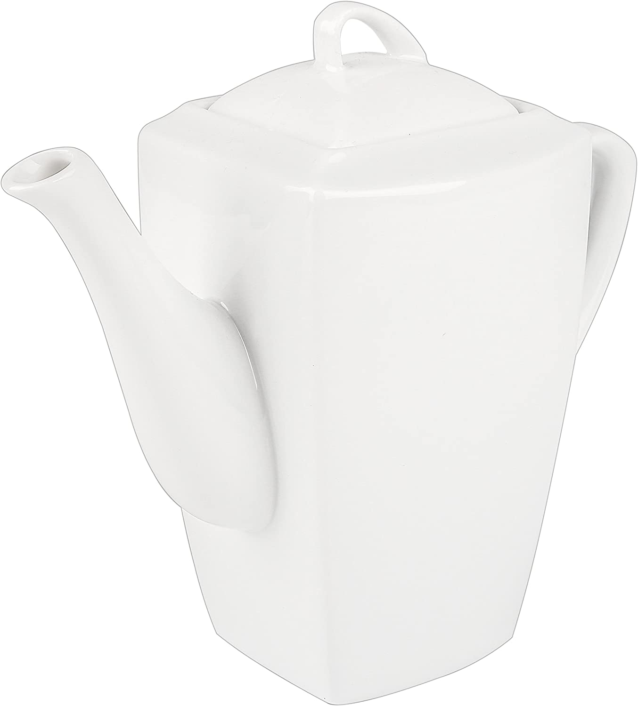 Forme Classique Bone China uni blanc 6 Tasse Théière