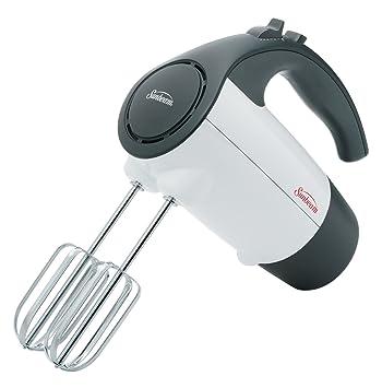 sunbeam 6 speed 200 watt hand mixer white amazon ca home kitchen