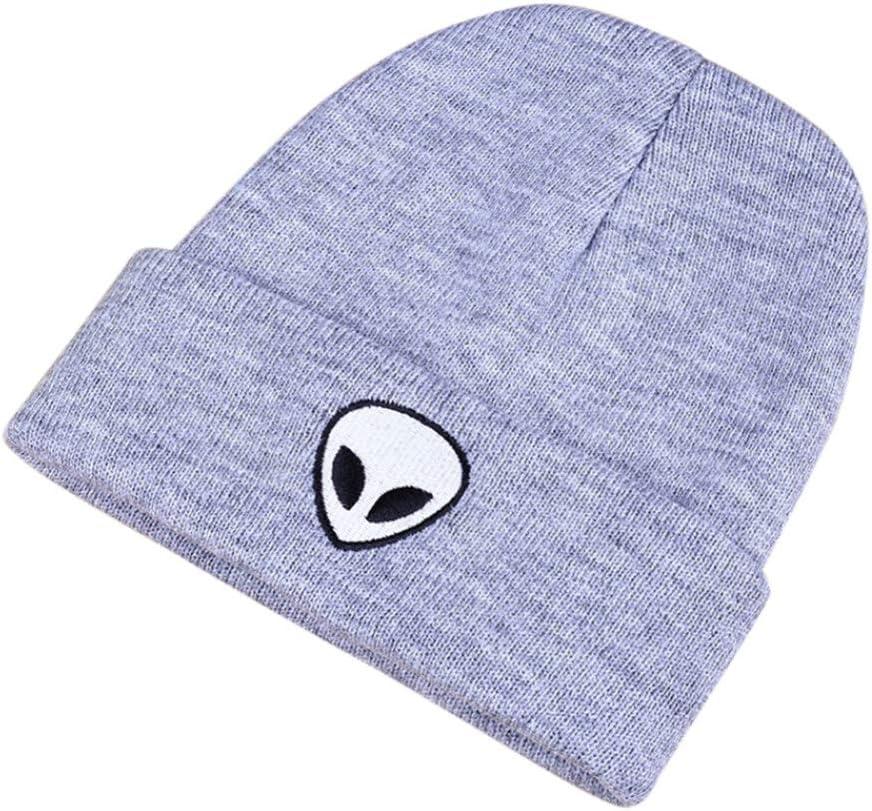 FSMMDM Sombrero Nuevo Oto/ño Invierno Sombrero Sombrero de Punto Lana Mujer Color s/ólido Patr/ón alien/ígena Gorros Soft Cap Hombres Mujeres Sombreros