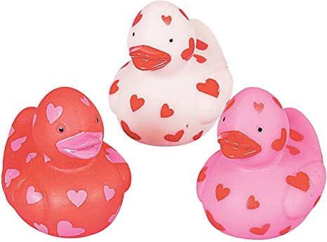 MINI VALENTINE RUBBER DUCKIES (24PC) - Toys - 24 Pieces