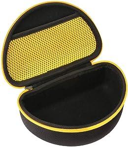 Khanka Hard Case for DEWALT DPG82-11/DPG82-21 Concealer Clear Anti-Fog Dual Mold Safety Goggle (yellow)