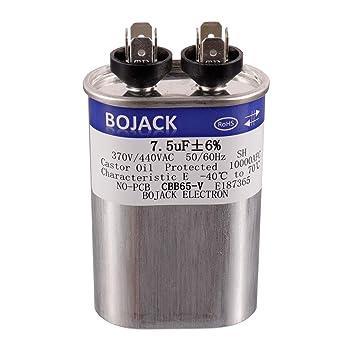 Amazon.com: BOJACK 7.5 uF ±6% 7.5 MFD 370V/440V CBB65 ...