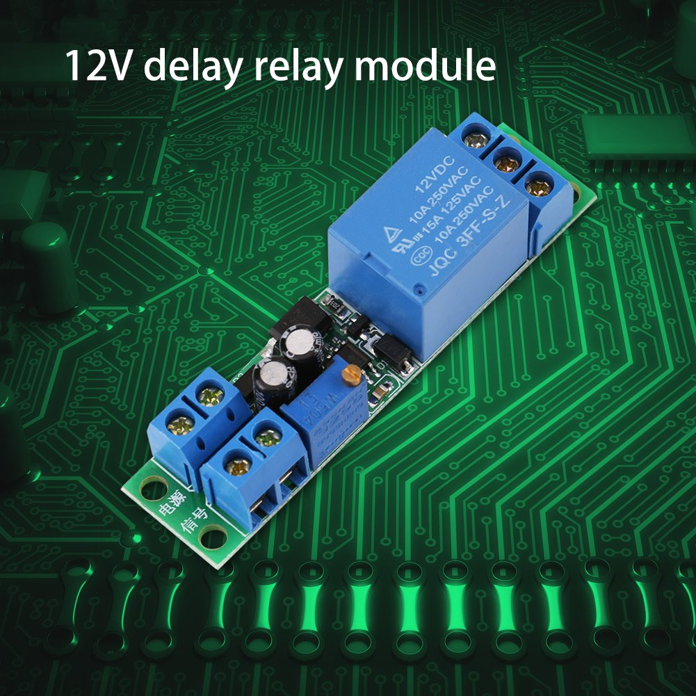 Dc 12v Delay Relay Module Board 0 25second Adjustable Timer 1pcs Turn On Off Switch With Opto Couplers Isolator Business