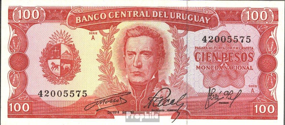 Prophila billetes para coleccionistas: Uruguay Pick-No.: 47a unc 1967 100 Pesos: Amazon.es: Juguetes y juegos