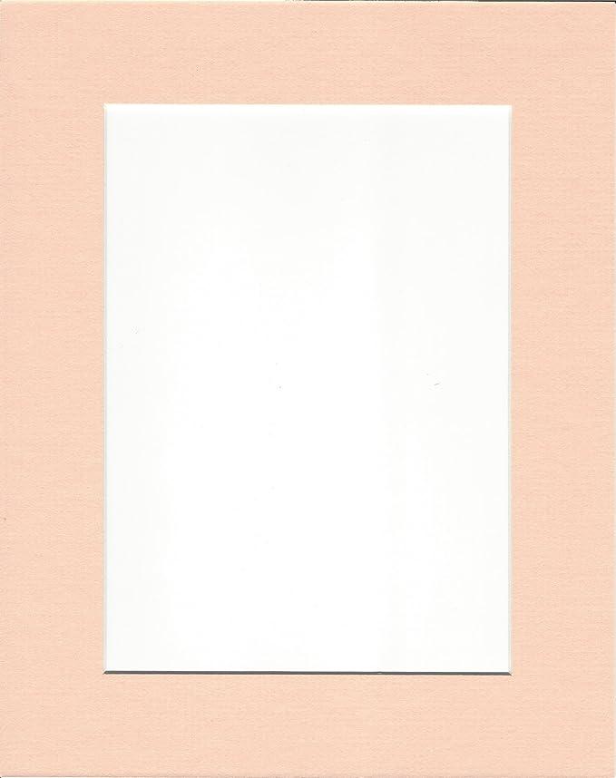 Amazon.de: 5 Stück 8 x 10 Pfirsich Bild Mats mit Weiß Core für 5 x 7 ...