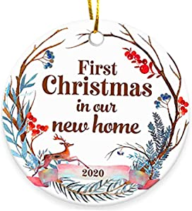 Cinlinso 2020 Christmas Ornament, First Christmas in New Home, Personalized Christmas Ornaments, Christmas Decorations for The Home