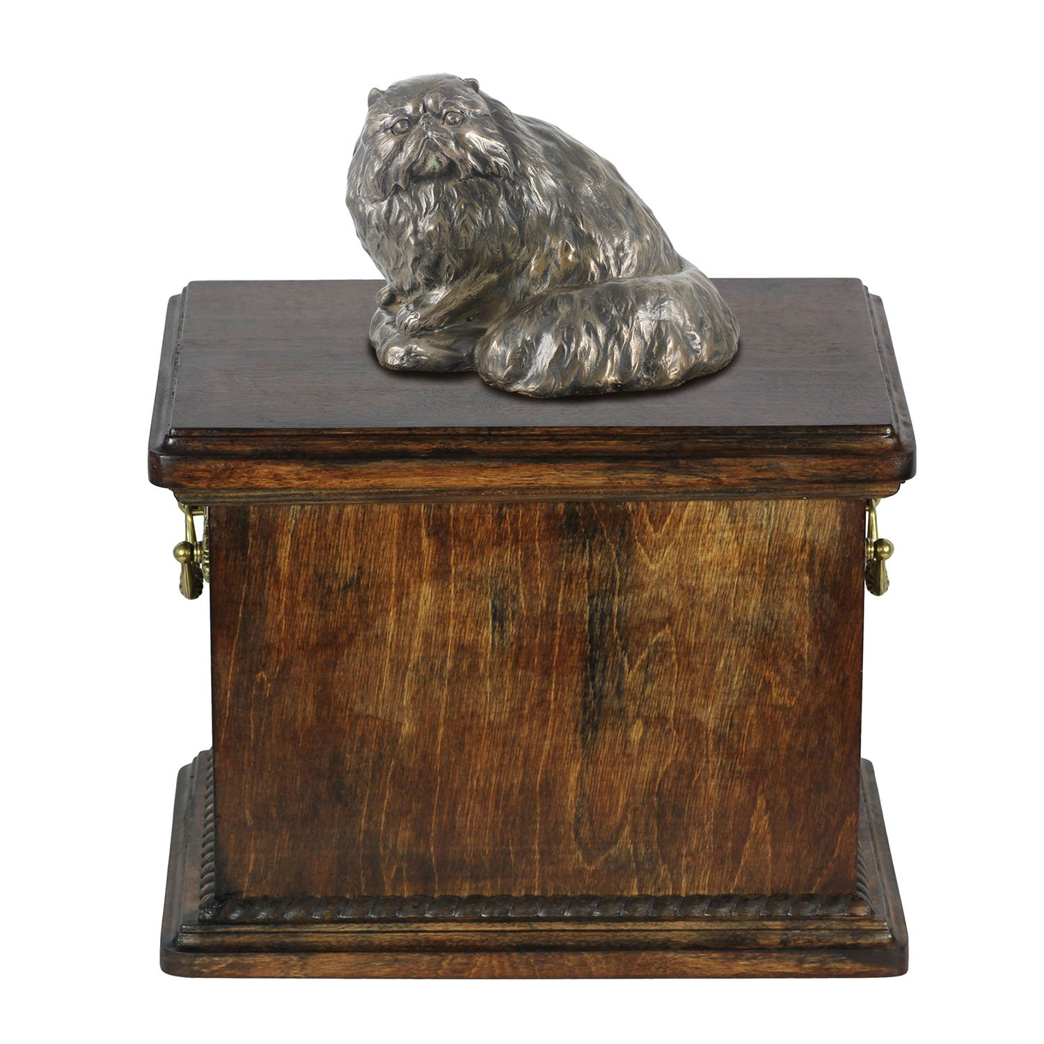 Persian Cat, memorial, urn for cat's ashes, with cat statue, ArtDog