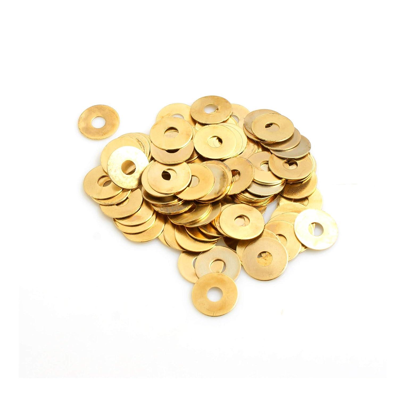 Rondelle rotonde in ottone 180 pezzi Assortimento di rondelle piatte in ottone con scatola M2//M2,5//M3//M4//M5//M6//M8//M10