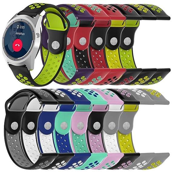 Malloom Impermeable ligero ventilar silicona pulsera correa de muñeca para ZTE Quartz Smartwatch (B)