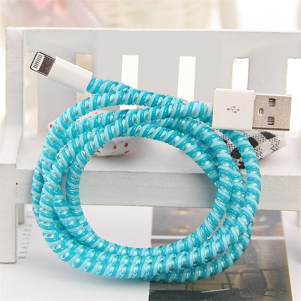 Amazon.com: Cable protector, PAMISO DIY Cartoon Style Spiral Wire ...