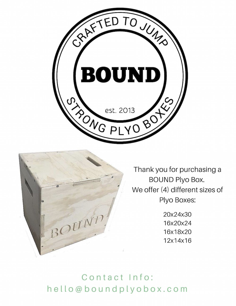 (20/24/30) Bound Plyo Box 3-in-1 Wood Puzzle Plyometric Box - CrossFit Training, MMA, or Plyometric Agility - Jump Box, Plyobox, Plyo Box, Plyometric Box, Plyometrics Box by BOUND Plyo Box (Image #4)