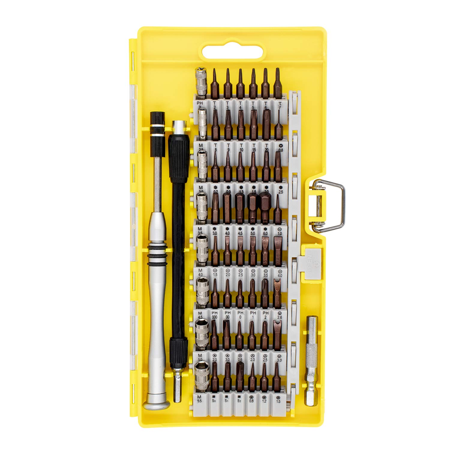 HX Studio 60 in 1 Screwdriver Set with 56 Bits Precision Screwdriver Kit,Magnetic Driver Kit, Professional Repair Tool Kit with Flexible Shaft for for iPhone,MacBook, Tablet,Cellphone, Xbox, PC, Game by HX Studio