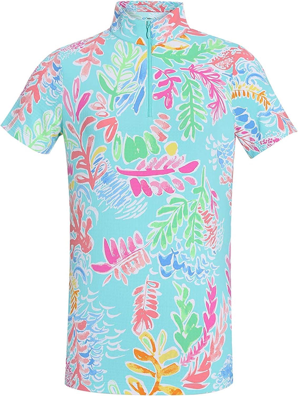 Sun Protection Short Sleeve Zip Mock 17400 IBKUL UPF 50
