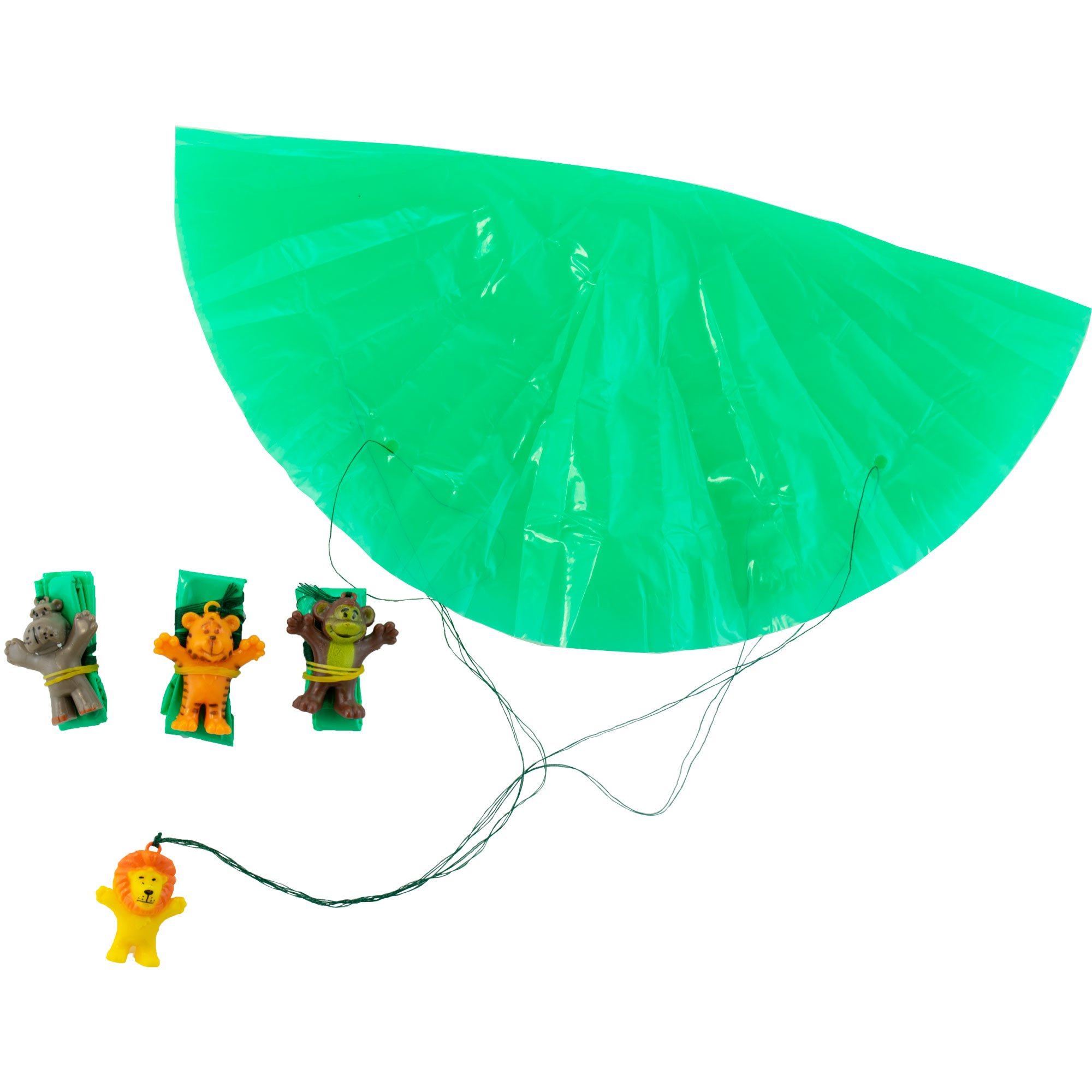 Giggletime Toy Co. Safari Animal Parachutist Assortment - (48) Pieces - for Kids, Boys and Girls, Party Favors, Pinata Stuffers, Children's Gift Bags, Carnival Prizes by Giggletime Toy Co. (Image #2)