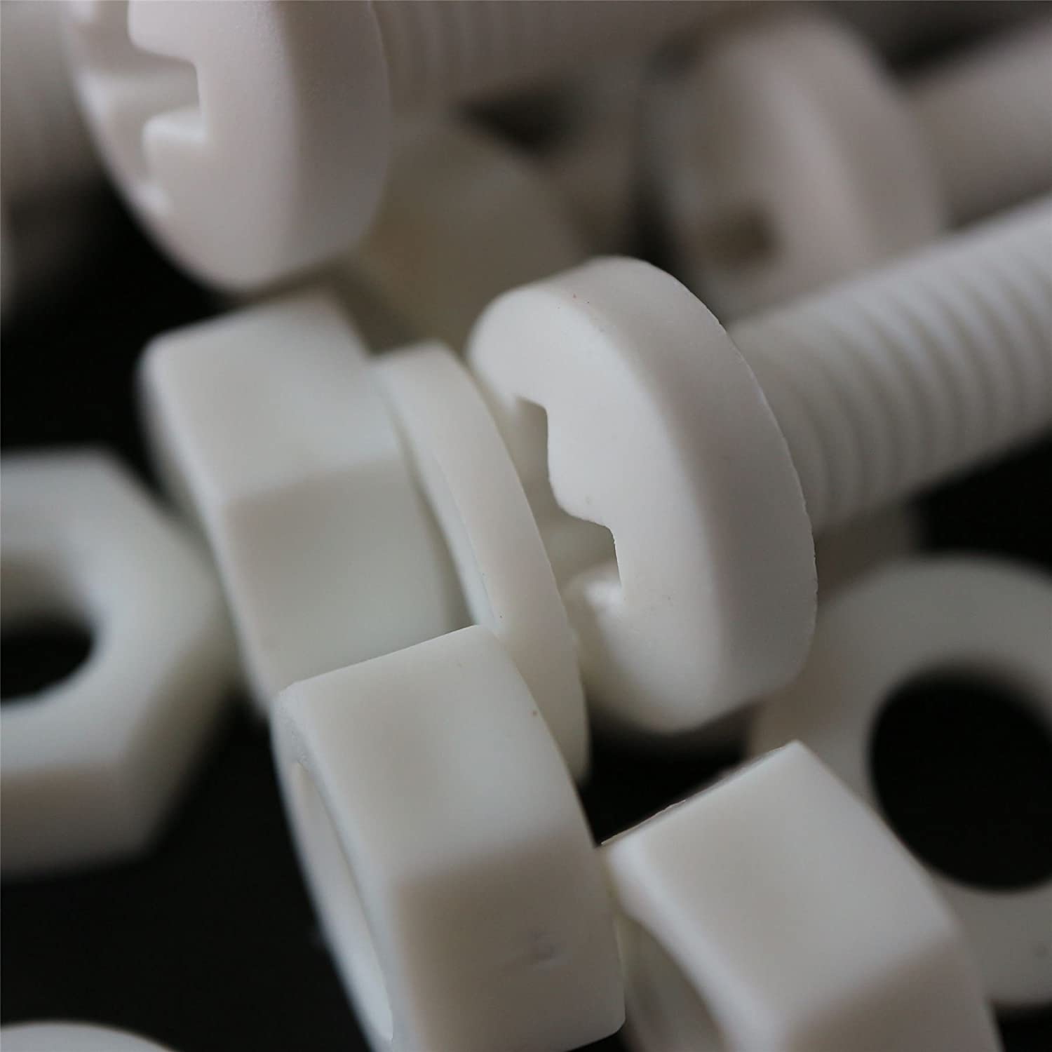 Plastic Nuts and Bolts Water Resistant Strong. Acrylic Electrical Insulator Washers 20 x White Philips Pan Head Screws Polypropylene PP Anti-Corrosion Chemical Resistant M6 x 60mm