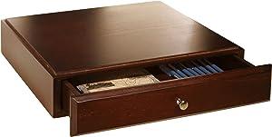 Bindertek Stacking Wood Desk Organizers Supply Drawer, Mahogany (WSD-MA)