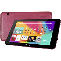 "Tablet Taris 7"" Pantalla HD Memoria Ram 1GB + 8GB expandible a 32GB, Doble cámara, Android Lollipop 5.1 Color rojo"