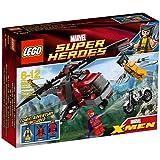 Lego Marvel Superhelden Super Heroes 6866 Wolverine's Chopper Showdown - Wolverine's Einsatz