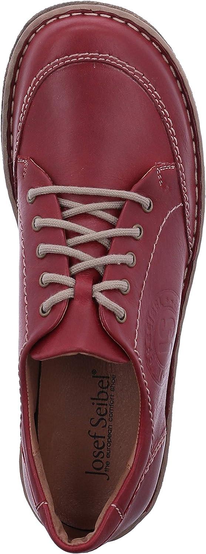 Josef Seibel Mujer Zapatos con Cordones Neele 02, señora Calzado cómodo Rojo