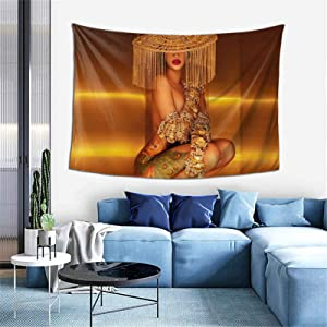 GUYLIGUYQI Singer Cardi B Tapestry Wall Hanging Nice Decorations and Practical Tapestries Full-Width Single-Sided Printing Tapestry for Bedroom 6040 Inch