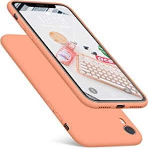 DTTO iPhone XR Case, [Romance Series] Silicone Case with Hybrid Protection for Apple iPhone XR 6.1 Inch - Nectarine