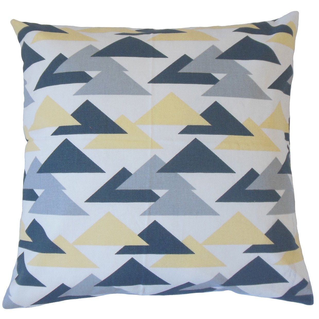 The Pillow Collection Wyome Geometric Luster Down Filled Throw Pillow